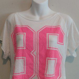 Pink crop top size small.